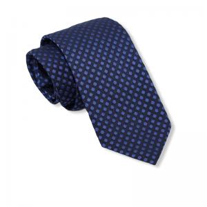 Μεταξωτή γραβάτα μπλε με μπλε πουά