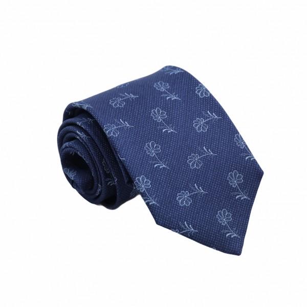 Μεταξωτή Γραβάτα Exclusive Μπλε Flower 7.5εκ. Γραβάτες