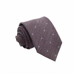 Μεταξωτή Γραβάτα Exclusive Μπορντό/ Μπλε Wool Touch 7.5εκ.