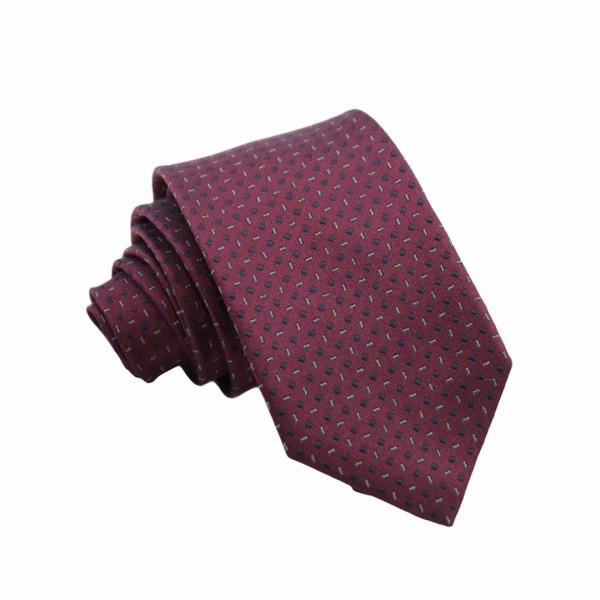 Μεταξωτή Γραβάτα Exclusive Μπορντό/ Μπλε με Σχέδιο 7.5εκ. Γραβάτες
