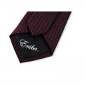Μεταξωτή γραβάτα μπορντό με σχέδιο Γραβάτες Γραβάτες - erika.gr