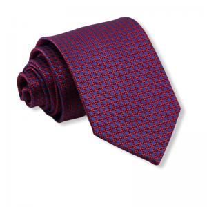 Γραβάτα ανοιχτό μπορντό με μπλε πουά