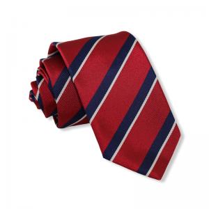 Μεταξωτή γραβάτα κόκκινη ριγέ