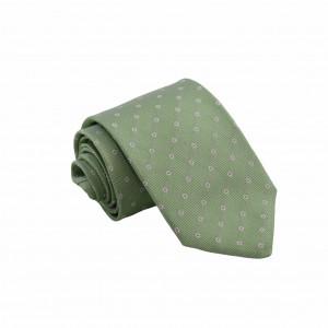 Μεταξωτή Γραβάτα Exclusive Πράσινη με Λουλούδια