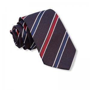 Καφέ γραβάτα με μπλε και κόκκινες ρίγες