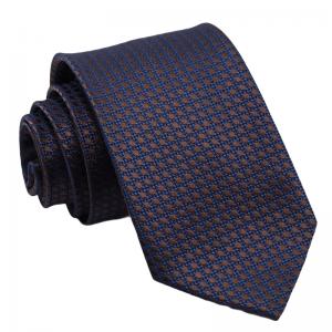 Γραβάτα ανοιχτό μπλε με καφέ πουά