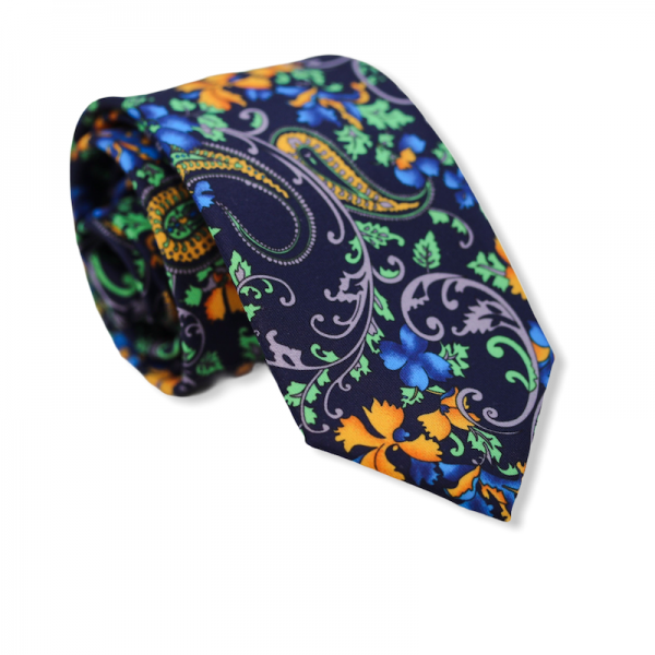 Γραβάτα Blue Paisley 7.5εκ.  Γραβάτες Γραβάτες - erika.gr