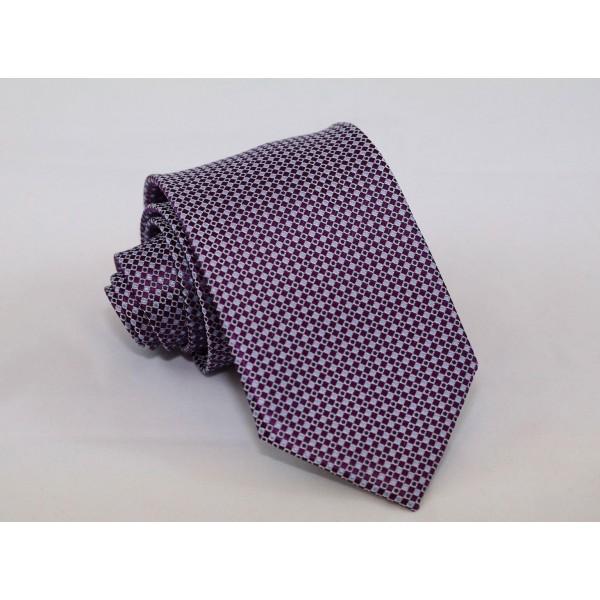 Γραβάτα με Μοτίφ Μωβ & Γαλάζιο 7.5εκ.    Γραβάτες Γραβάτες - erika.gr
