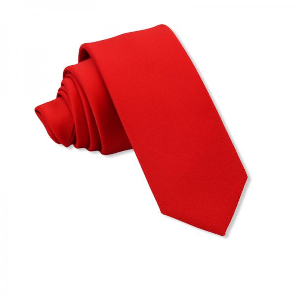 Γραβάτα Solid Red 6εκ. Γραβάτες Γραβάτες - erika.gr