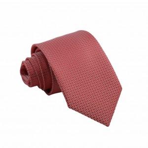 Γραβάτα Κόκκινη/ Λευκό με Γεωμετρικό Σχέδιο 7.5εκ.