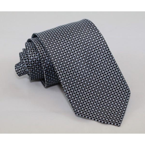 Γραβάτα με Μοτίφ Μαύρο & Γαλάζιο 7.5εκ. .   Γραβάτες Γραβάτες - erika.gr