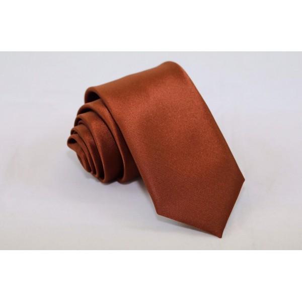 Γραβάτα Satin Rust 7.5εκ. Γραβάτες Γραβάτες - erika.gr