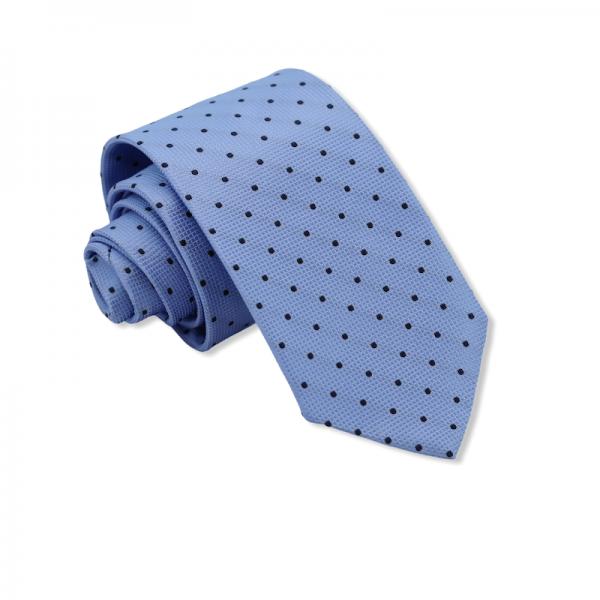 Γραβάτα Γαλάζια Πουά 7.5-8εκ.  Γραβάτες