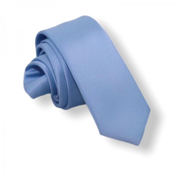 Γαλάζια Γραβάτα Satin Slim 6εκ. Γραβάτες Γραβάτες - erika.gr