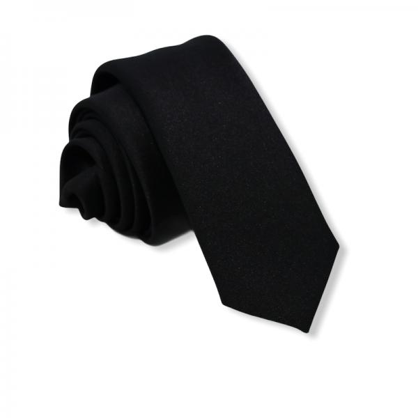 Γραβάτα Solid Black Slim 5.5εκ. Γραβάτες Γραβάτες - erika.gr