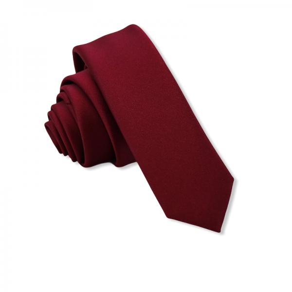 Γραβάτα Solid Bordeaux 4.5εκ. Γραβάτες Γραβάτες - erika.gr