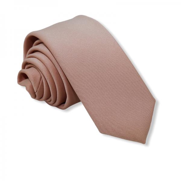 Γραβάτα Solid  Cream Σομόν  6εκ.Γραβάτες Γραβάτες - erika.gr