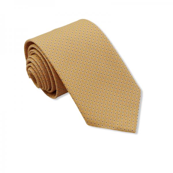 Γραβάτα Χρυσαφένια με Σχέδιο 7.5/8εκ.  Γραβάτες