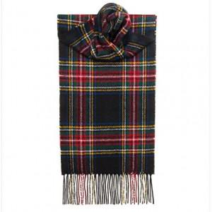 Κασκόλ Μάλλινο Καρό Steward Black Modern Unisex Lochcarron of Scotland