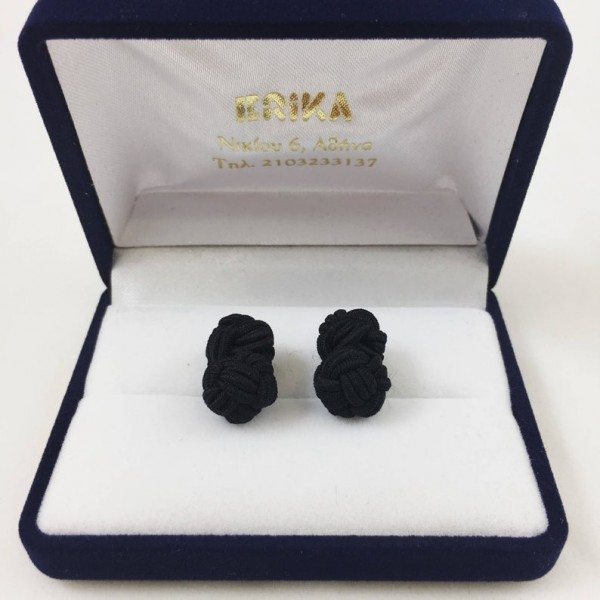 Μανικετόκουμπα knot μαύρα Μανικετόκουμπα Γραβάτες - erika.gr