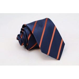 Μπλε γραβάτα με καφέ ρίγες