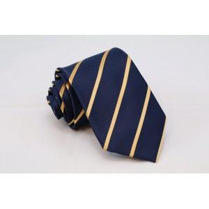Μπλε γραβάτα με κίτρινες ρίγες
