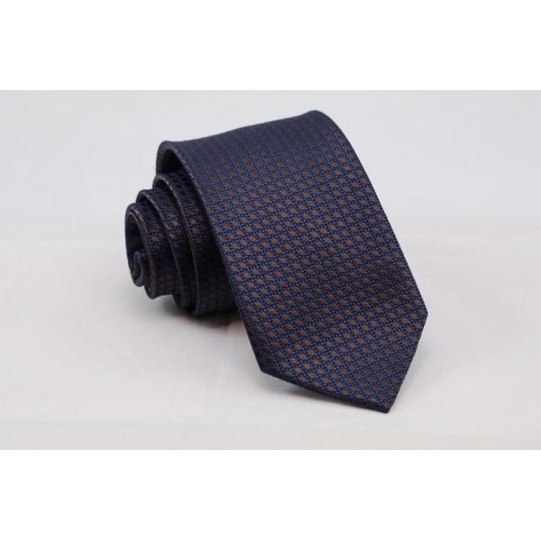 Γραβάτα ανοιχτό μπλε με καφέ πουά Γραβάτες Γραβάτες - erika.gr
