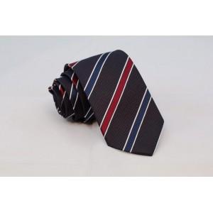Γκρι γραβάτα με μπλε και κόκκινες ρίγες