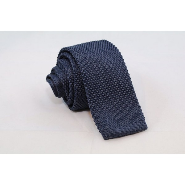 Knitted Necktie Grey Neckties Γραβάτες - erika.gr