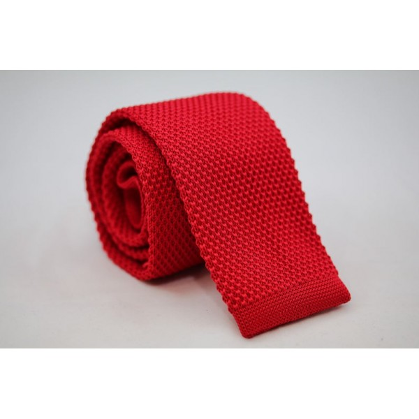 Knitted Necktie Red Neckties Γραβάτες - erika.gr