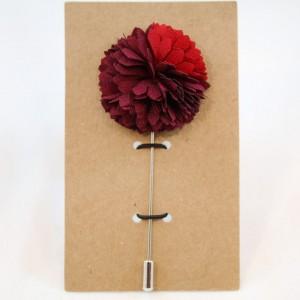 Καρφίτσα Πέτου Luxurious Deep Red Flower