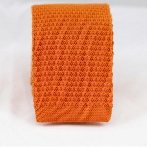Πλεκτή Γραβάτα Πορτοκαλί Βαμβακερή