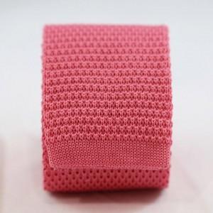 Πλεκτή Γραβάτα Ροζ Βαμβακερή