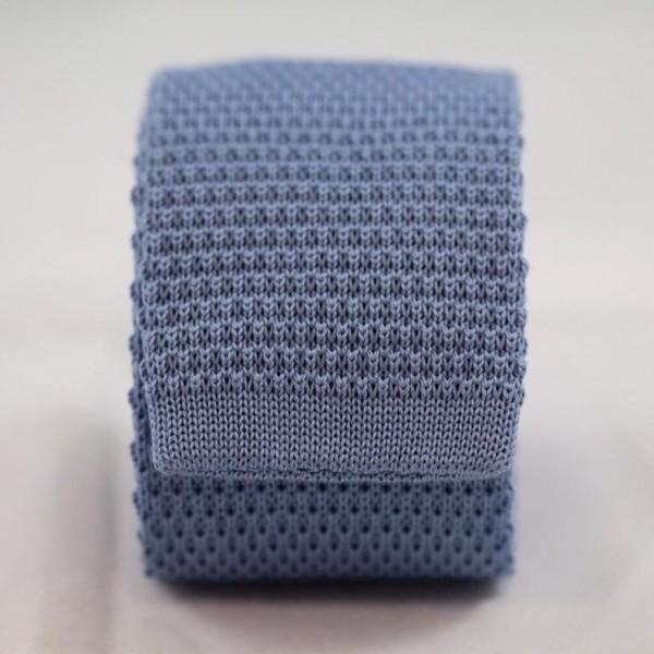 Knitted Necktie Light Blue Neckties Γραβάτες - erika.gr