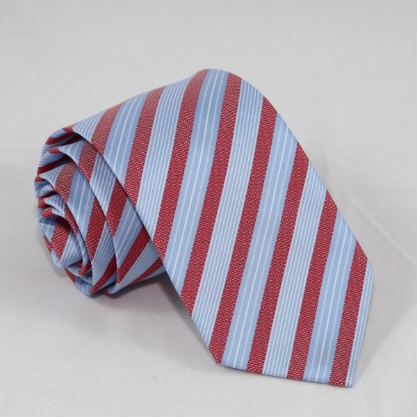 Ριγέ Γραβάτα Γαλάζιο Κόκκινο 8εκ. Γραβάτες Γραβάτες - erika.gr