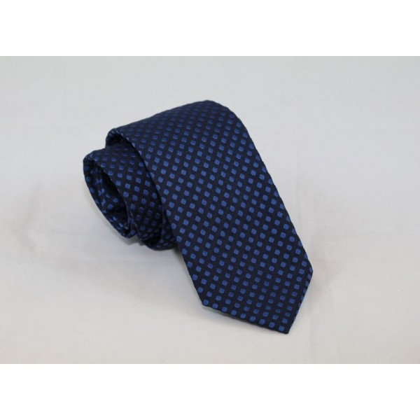 Silk blue necktie with blue dots Neckties Γραβάτες - erika.gr