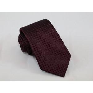 Μεταξωτή γραβάτα μπορντό με σχέδιο