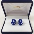 Μανικετόκουμπα knot navy blue / white Μανικετόκουμπα Γραβάτες - erika.gr